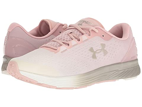 Under Armour CHARGED BANDIT 4 - Neutral running shoes - flushed pink/ivory/metallic faded gold