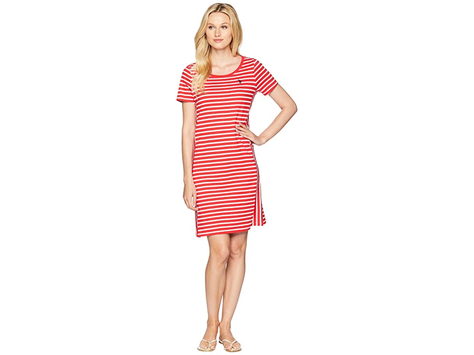 U.S. POLO ASSN. Mixed Stripe Tee Dress (Lollipop) Women