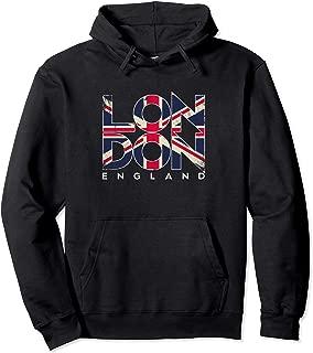 London England Flag Travel Souvenir Hoodie