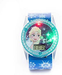 Disney Frozen Girls Digital Dial with Rotating Spinner Head Flashing Light Wristwatch - SA8058 Frozen