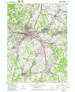 YellowMaps Irwin PA topo map, 1:24000 Scale, 7.5 X 7.5 Minute, Historical, 1953, Updated 1979, 26.9 x 22 in