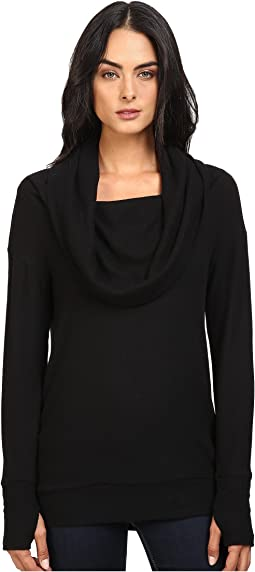 Michael Stars - Super Soft Madison Jersey Cowl Neck w/ Thumbholes