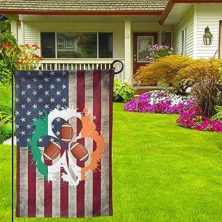 Irish Shamrock Flag Football 12.5 X 18inch Double Sided Vibrant Garden Seasonal Home Flag For Party Yard Home Outdoor Decor