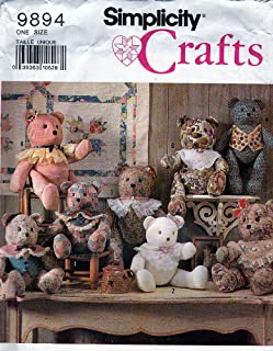 Stuffed Decorative Bear in Two Sizes, Simplicity 9894 Sewing Pattern