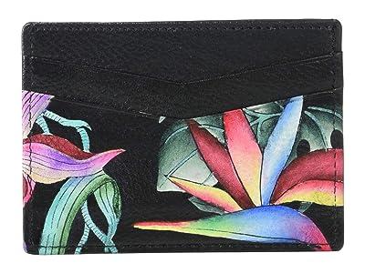 Anuschka Handbags Credit Card Case 1032 (Island Escape Black) Handbags