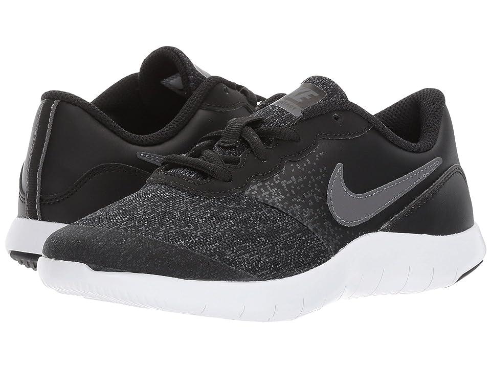 Nike Kids Flex Contact (Little Kid) (Black/Dark Grey/Anthracite/White) Boys Shoes
