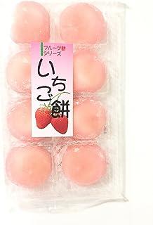 Sweet Rice Cake Strawberry Flavored (Ichigo Daufuku) 7.4 OZ and soy sauce dish
