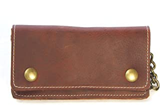 Legacy Leather Goods Men's Biker Chain Wallet 6.25