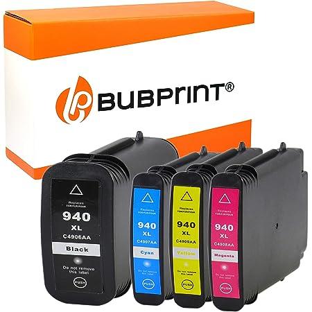 4 Bubprint Druckerpatronen Kompatibel Für Hp 940xl 940 Xl Für Officejet Pro 8000 Enterprise Wireless 8500 Premier 8500a Plus Premium Schwarz Cyan Magenta Gelb Multipack Bürobedarf Schreibwaren