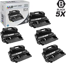 LD Compatible Toner Cartridge Replacement for HP 81X CF281X High Yield (Black, 5-Pack)