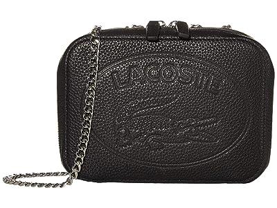 Lacoste Croco Crew Crossover Bag (Black) Cross Body Handbags