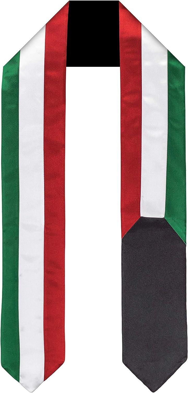 Kuwait Flag Graduation Sash Stole Abroad Sales Store of SALE items from new works Study International Adu