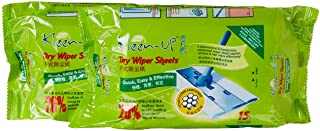 Kleen-Up Dry Wiper Sheet, 15ct (Pack of 2)