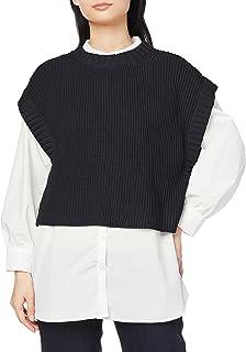 [ナチュラルビューティーベーシック] セーター ベスト×チュニックシャツセット レディース