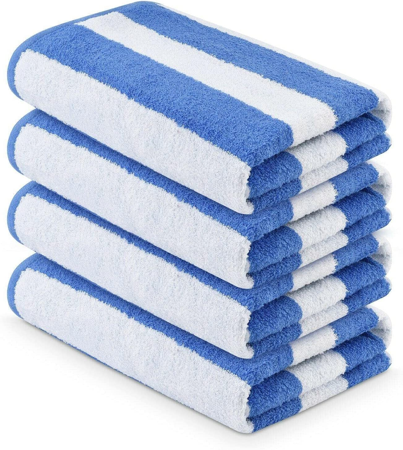 Very popular! 4 Pieces Pack- Bargain sale 30x60 inches-Large T Pool Beach Blue Towels