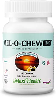 Mel-O-Chew Melatonin for Kids – 1mg Chewable Sleep Aid Tablets - Natural Supplement for Children And Adults...