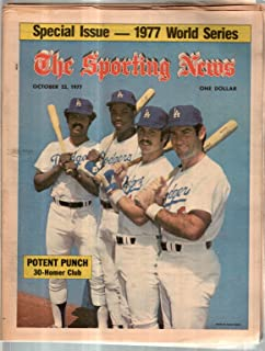 The Sporting News Newspaper Oct 22, 1977 Potent Punch Smith Baker Cey and Garvey GOOD