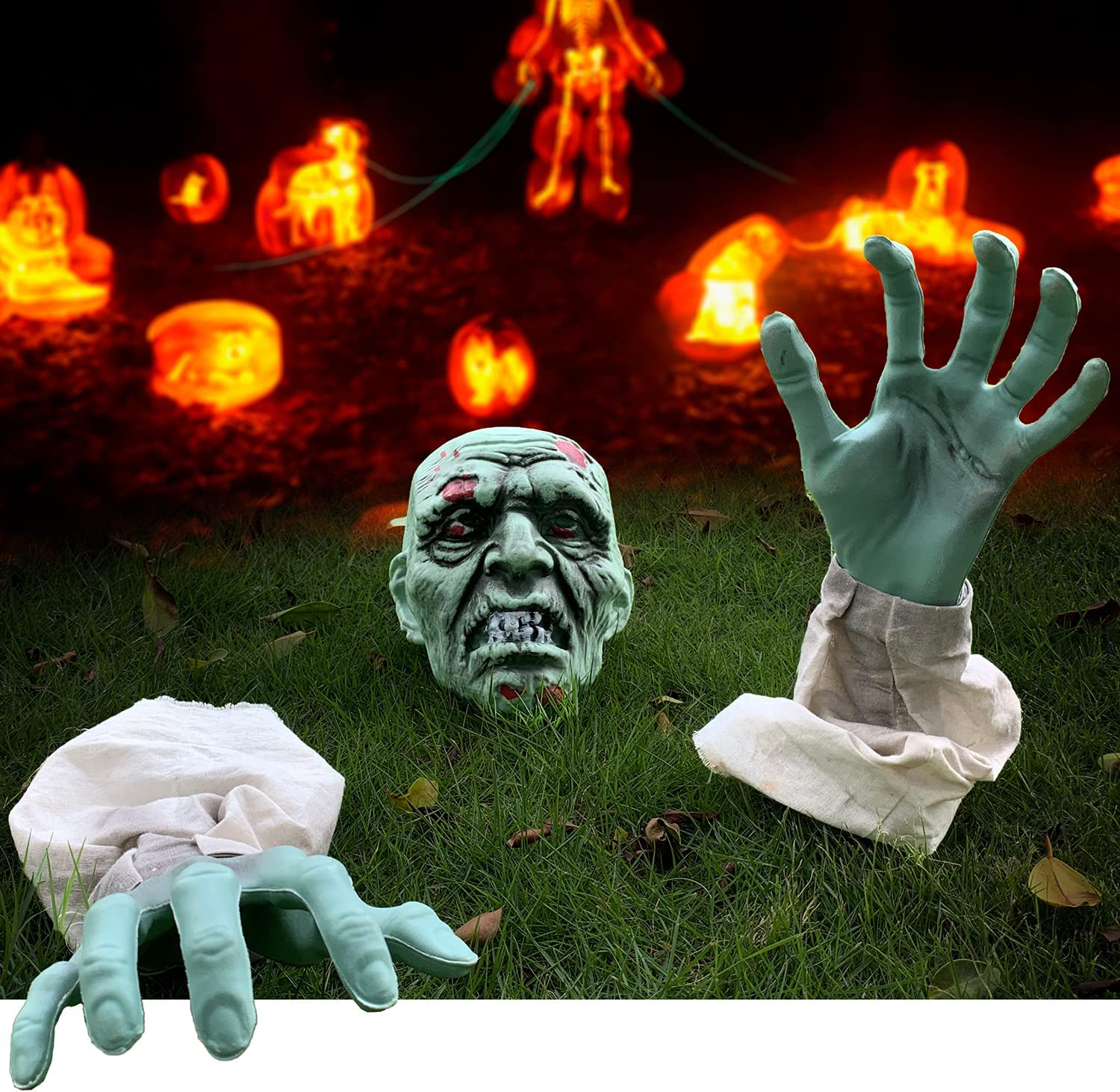 YaNovate Halloween Decorations Scary Deluxe Zombie and Face Japan's largest assortment with Arms