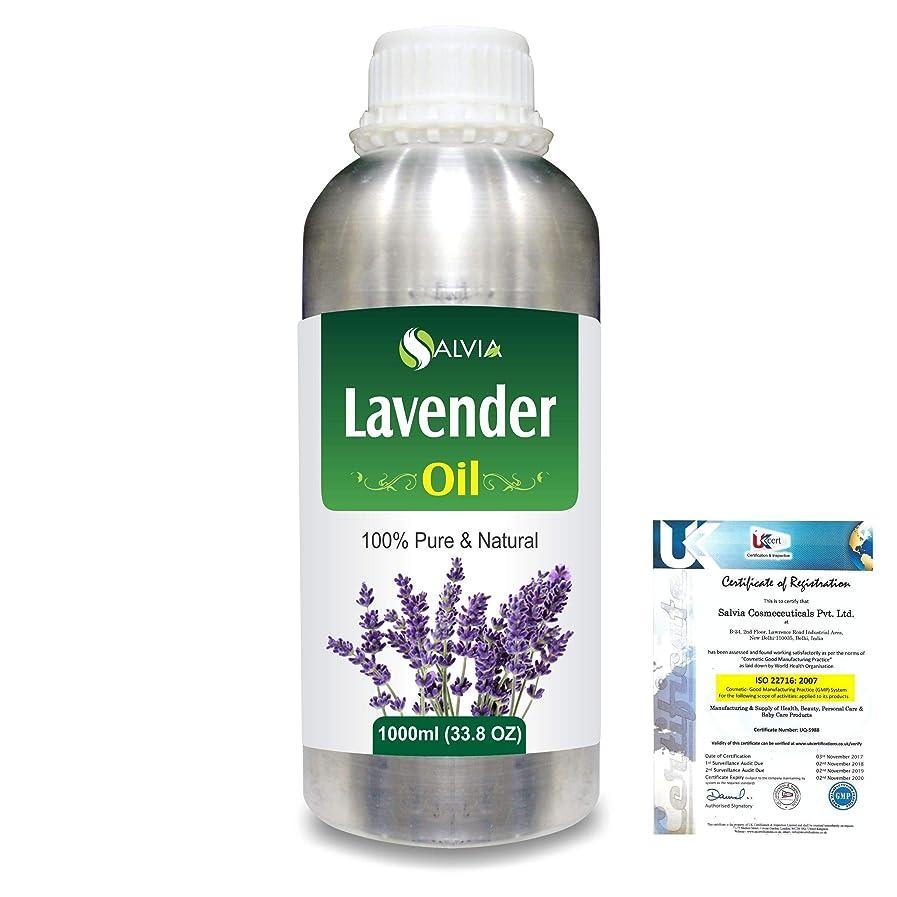空白暴力的なガラスLavender (Lavandula officinalis) 100% Natural Pure Essential Oil 1000ml/33.8fl.oz.
