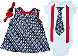 Matching Brother Sister Boy Girl Twin Rose & Ross USA Made