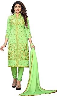 Glory Sarees Women's Semi Stitch Salwar Suit Material (salwar_suit_105_green)