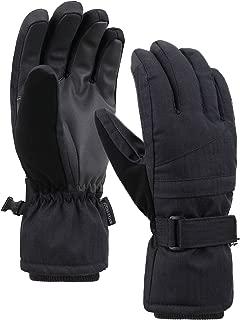 Jasmine Women's Thinsulate Insulated Waterproof Zipper Pocket Snow Gloves