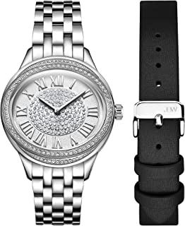 JBW Luxury Women's Plaza Diamond Two Interchangeable Band Watch - J6366-SetA
