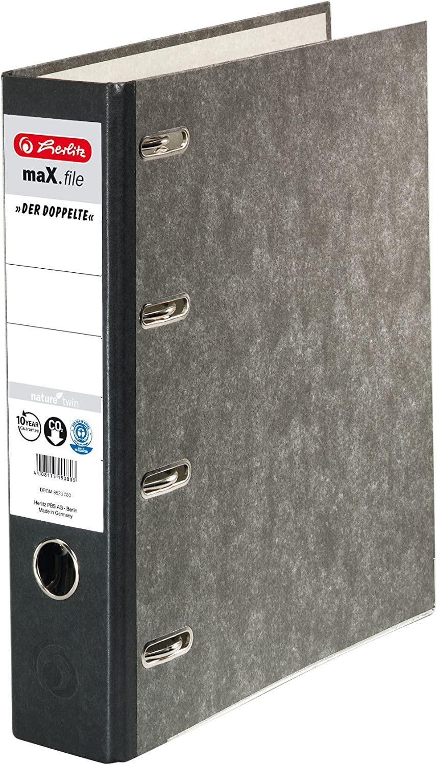 Herlitz max.file Nature A4 Double-Lever Arch File Black Minneapolis Mall - Indefinitely