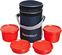Signoraware Executive Lunch Box with Bag 15cm Deep Red