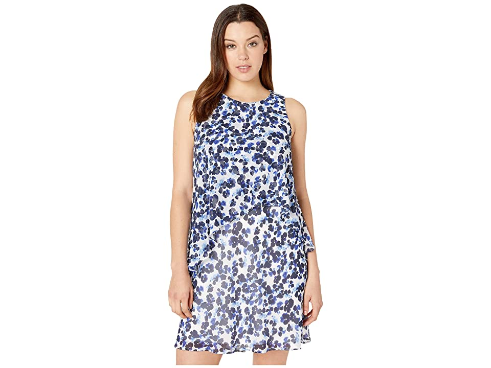 LAUREN Ralph Lauren Lonia Dress (Colonial Cream/Blue/Multi) Women