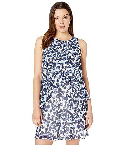 LAUREN Ralph Lauren Lonia Dress (Colonial Cream/Blue/Multi) Women