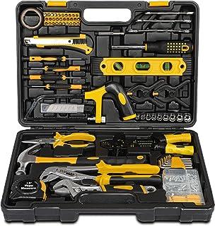 218 Pcs Home Tool Kit Set, Mechanic Tool Set for Car Motorbike Repair Daily Maintenance, Household DIY Tool Box with Tools...