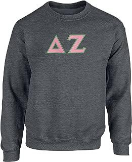Delta Zeta Twill Letter Crewneck Sweatshirt
