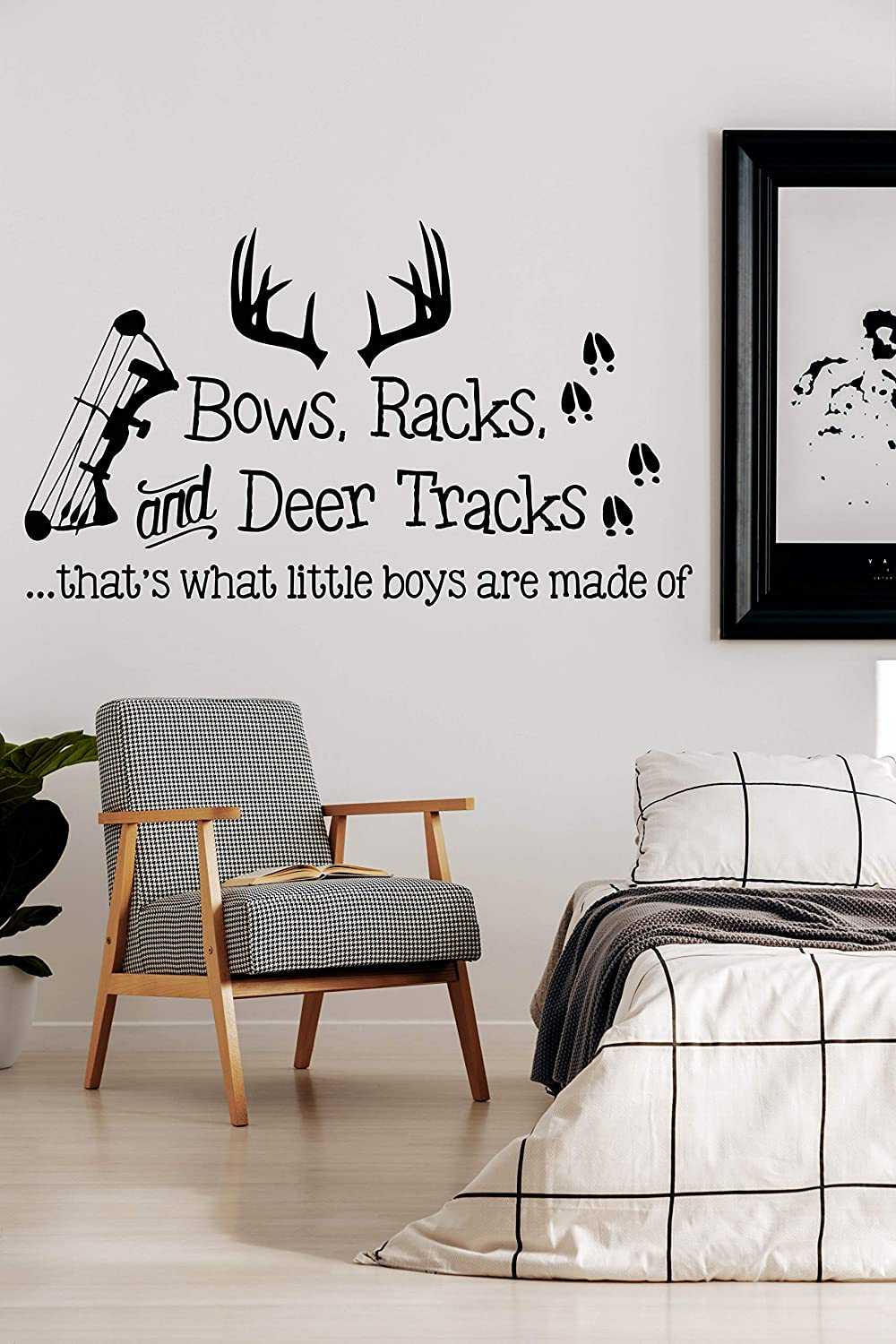 Wall Vinyl Decal Home Decor - NEW before selling ☆ Deer Trac Sticker Bows Import Racks Art