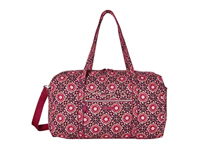Vera Bradley Iconic Large Travel Duffel (Raspberry Medallion) Duffel Bags