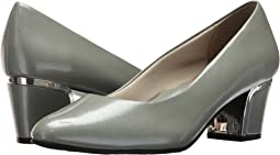 Wrought Iron Crosshatch Patent/Silver Heel