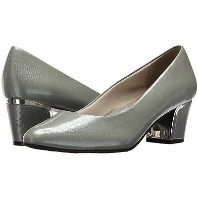 Soft Style Deanna (Wrought Iron Crosshatch Patent/Silver Heel) Women