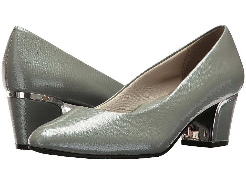 Soft Style Deanna (Wrought Iron Crosshatch Patent/Silver Heel) Women