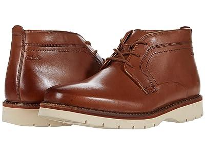 Clarks Bayhill Mid (Dark Tan Leather) Men