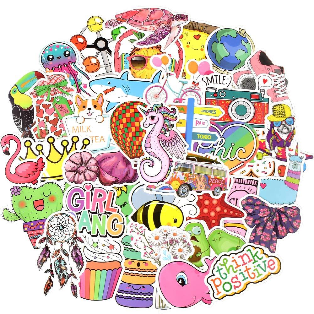 100Pcs Waterproof Trendy Vsco Stickers Bomb Water Bottle Folders For Teen Girls