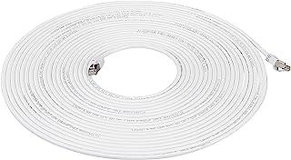 Amazon Basics Cat 7 Câble Internet Haute Vitesse Gigabit Ethernet Patch, Blanc, 1-Pack, 9.1m