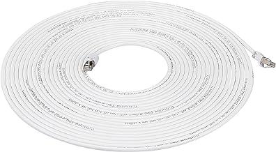 AmazonBasics RJ45 Cat 7 High-Speed Gigabit Ethernet Patch Internet Cable - White, 30 Foot