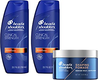Head and Shoulders Anti Dandruff and Scalp Care Shampoo & Molding Hair Clay, Clinical Strength Bundle