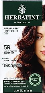 Herbatint Permanent Herbal Haircolor Gel, Light Copper Chestnut 5 R, 4.56-Ounces