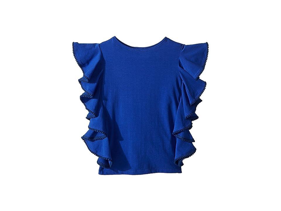 fiveloaves twofish Ruffle Shift Dress (Little Kids/Big Kids) (Blue) Girl
