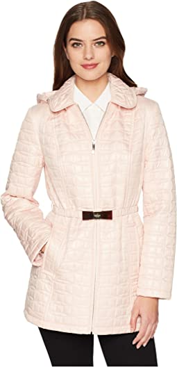 Kate Spade New York - Bow Quilt Tortoise Bow Hooded Jacket 31