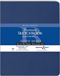 "Stillman & Birn Beta Series Softcover Sketchbook, 8"" x 10"", 270 GSM (Extra Heavyweight), White Paper, Cold Press Surface"