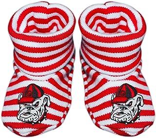 University of Georgia Bulldogs Newborn Baby Striped Bootie Sock