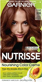 Garnier Nutrisse Nourishing Hair Color Creme, 535 Medium Gold Mahogany Brown (Packaging May Vary)