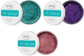 Gina K Designs Glitz Glitter Gel - Turquoise Sea, Wild Lilac and Bubblegum Pink - 3 Items